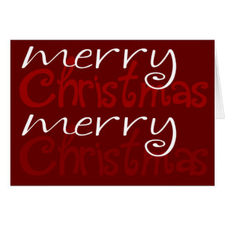 Cranberry Red Merry Christmas Card