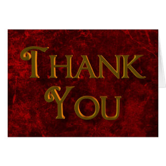 Cranberry Red Thank You Card