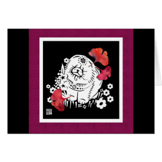 CRANBERRY RELISH Chow papercut Greeting Card