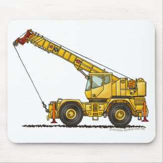 Crane All Terrain Hydraulic Construction Mouse Pad