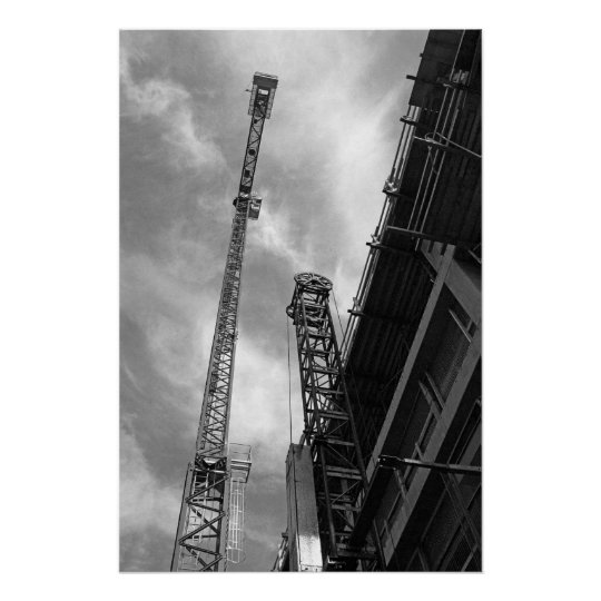 Crane and Counterweight Poster