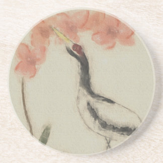 Crane and Orchid Coaster