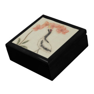 Crane and Orchid Gift/Trinket Box Jewelry Box