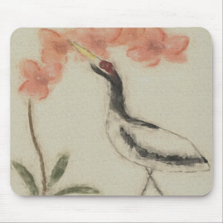 Crane and Orchid Mousepad