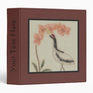 Crane and Orchid Scrapbook Binder