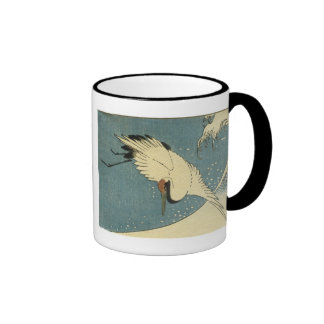 Crane and Wave Hiroshige Mugs and Steins