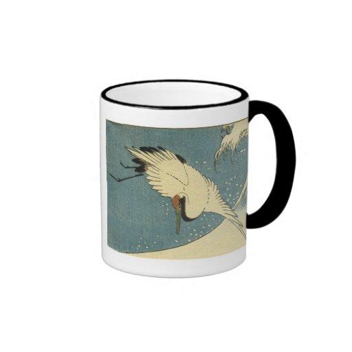 Crane and Wave, Hiroshige Mugs and Steins