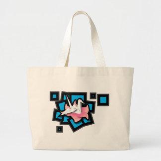Crane Art Canvas Bags