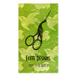 crane asian vintage hair stylist scissors green business card templates