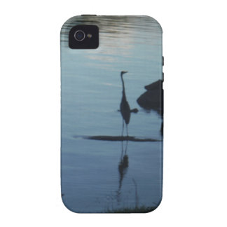 Crane at the Lake at Sunset Vibe iPhone 4 Cover