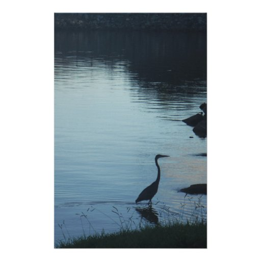 Crane at the Lake at Sunset Customized Stationery