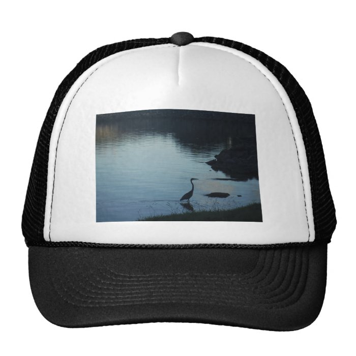 Crane at the Lake at Sunset Trucker Hat