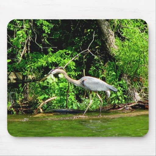 Crane at the Lake Mouse Mats