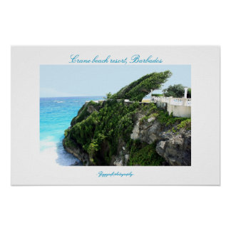Crane beach resort, Barbados poster