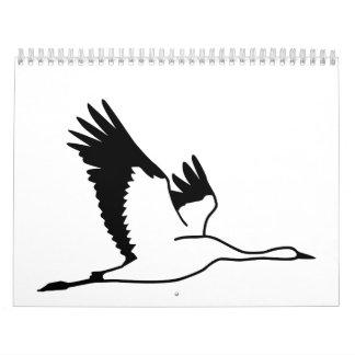 Crane bird calendar