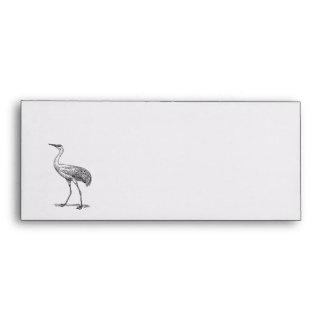 Crane Bird Drawing Envelope