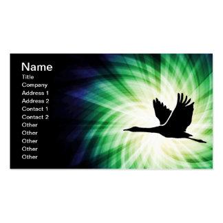 Crane; Bird Flying; Cool Business Card Templates