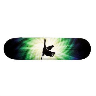 Crane; Bird Flying; Cool Skate Board