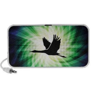 Crane; Bird Flying; Cool iPod Speakers