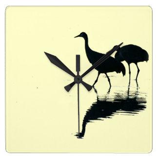 Crane Birds Wall Clock