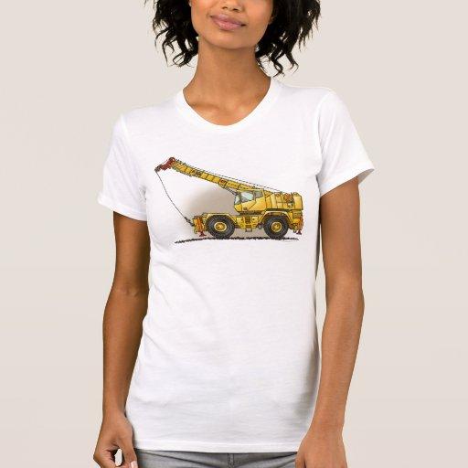 Crane Construction Equipment Girls T-Shirt