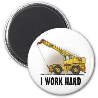 Crane Construction Equipment Magnet I Work