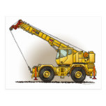 Crane Construction Equipment Post Card