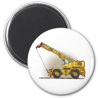 Crane Construction Equipment Round Magnet