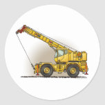 Crane Construction Equipment Sticker
