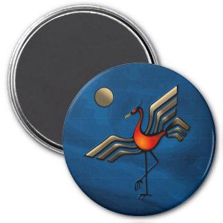 Crane Dance 3 Inch Round Magnet