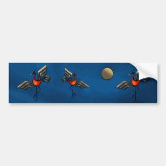 Crane Dance Bumper Stickers