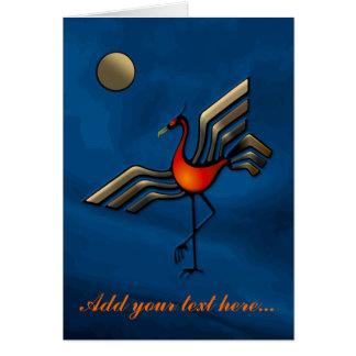 Crane Dance Card