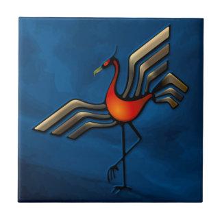 Crane Dance Ceramic Tile