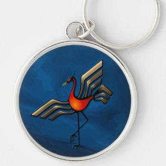 Crane Dance Keychain