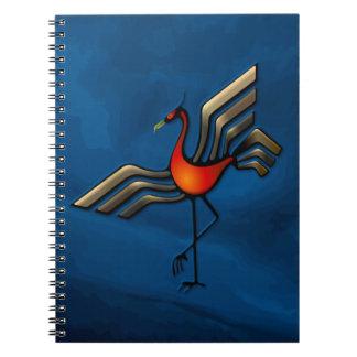 Crane Dance Spiral Note Books