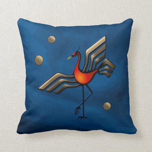 Crane Dance Throw Pillows