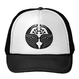 Crane dividing paulownia mesh hats