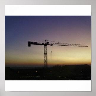 Crane during  poster