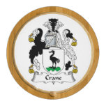 Crane Family Crest Round Cheese Board