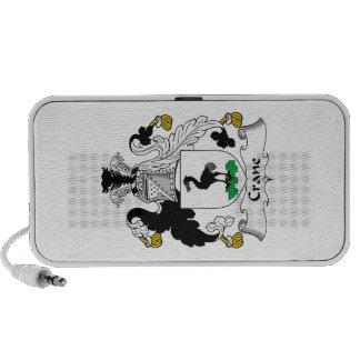 Crane Family Crest Notebook Speaker