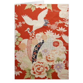Crane Flowers Stationery Note Card