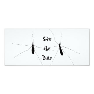 Crane Fly Goth Save the Date Invitation Card