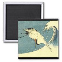 Crane Flying in a Wave Magnet
