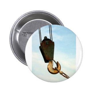 Crane Hook 2 Inch Round Button