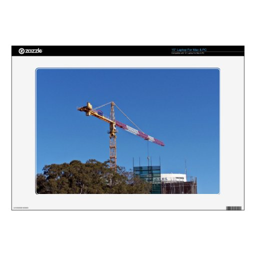 """Crane in construction skin for 15"""" laptop"""