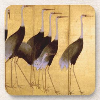 Crane, Ogata Kōrin Fine Art Beverage Coasters