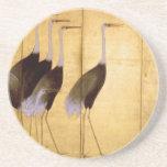 Crane, Ogata Kōrin Fine Art Coasters