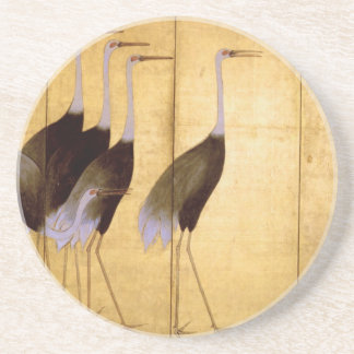 Crane, Ogata Kōrin Fine Art Drink Coaster