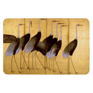 Crane, Ogata Kōrin Fine Art Rectangular Photo Magnet