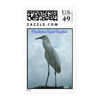 Crane on the dock stamps